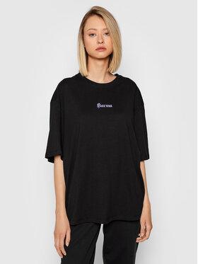NA-KD NA-KD T-Shirt Karma Printed 1100-004261-0002-003 Černá Regular Fit