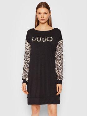 Liu Jo Liu Jo Φόρεμα καθημερινό 5F1025 J6126 Μαύρο Relaxed Fit