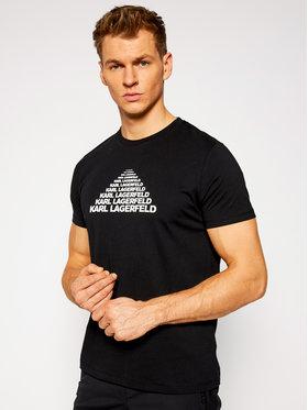 KARL LAGERFELD KARL LAGERFELD T-Shirt Crewneck 755035 502224 Czarny Regular Fit