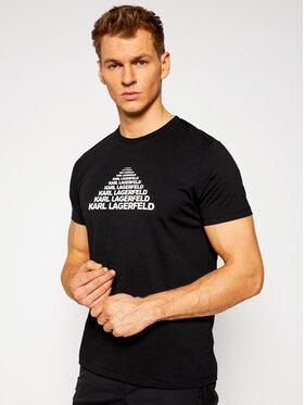 KARL LAGERFELD KARL LAGERFELD T-shirt Crewneck 755035 502224 Noir Regular Fit