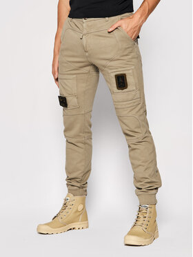Aeronautica Militare Aeronautica Militare Joggers kalhoty 212PF743J505 Béžová Regular Fit