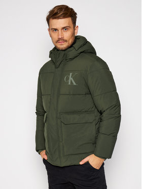 Calvin Klein Jeans Calvin Klein Jeans Pūkinė striukė J30J316622 Žalia Regular Fit
