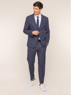 Tommy Hilfiger Tailored Tommy Hilfiger Tailored Pantaloni de costum TT0TT05530 Bleumarin Slim Fit