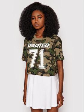 Starter Starter T-Shirt SDG-006-BD Zielony Regular Fit