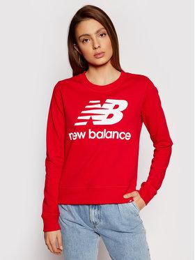 New Balance New Balance Bluza Essentials Crew WT03551 Czerwony Relaxed Fit