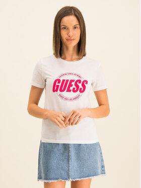 Guess Guess Marškinėliai Roxy W01I0J JA900 Balta Regular Fit