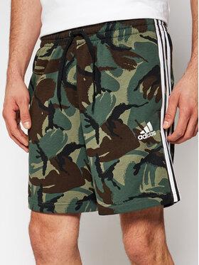 adidas adidas Szorty sportowe Essentials French Terry Camouflage GK9621 Zielony Regular Fit