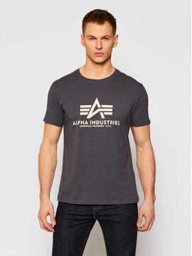 Alpha Industries Alpha Industries T-Shirt Basic 100501 Grau Regular Fit