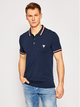Guess Guess Polo marškinėliai M1RP66 J1311 Tamsiai mėlyna Extra Slim Fit