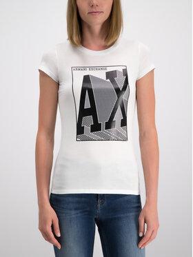 Armani Exchange Armani Exchange Póló 6GYTAA YJ16Z 1000 Fehér Slim Fit