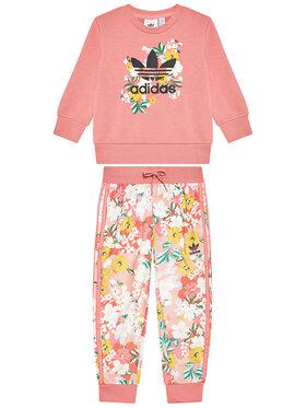 adidas adidas Komplektas: džemperis ir tamprės HER Studio London Floral GN4211 Rožinė Regular Fit