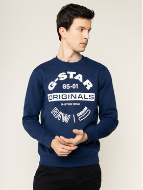 G-Star Raw G-Star Raw Μπλούζα Originals Logo Gr D16466-A612-1305 Σκούρο μπλε Regular Fit