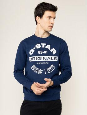 G-Star Raw G-Star Raw Sweatshirt Originals Logo Gr D16466-A612-1305 Dunkelblau Regular Fit