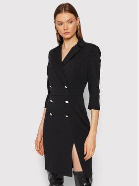 Rinascimento Rinascimento Koktejlové šaty CFC0105023003 Čierna Regular Fit