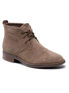 Clarks Clarks Členková obuv Brean Lace 261600504 Zelená