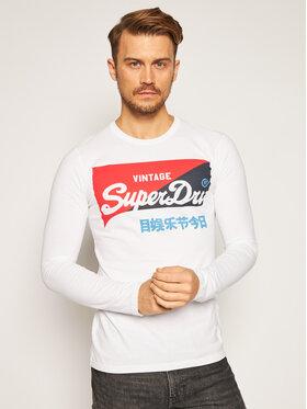 Superdry Superdry S dlhými rukávmi Vl O Primary Ls Top M6010155A Biela Regular Fit