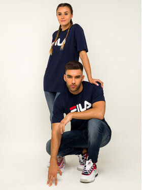 Fila Fila T-shirt Unisex 681093 Blu scuro Regular Fit
