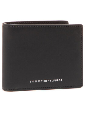 Tommy Hilfiger Tommy Hilfiger Duży Portfel Męski Th Metro Mini Cc Wallet AM0AM07291 Czarny