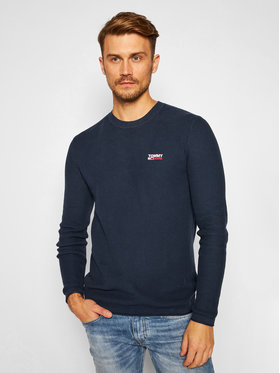 Tommy Jeans Tommy Jeans Megztinis Corp Logo DM0DM09468 Tamsiai mėlyna Regular Fit