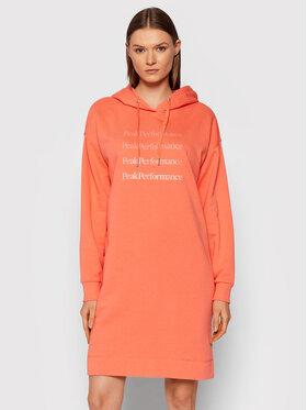 Peak Performance Peak Performance Трикотажна сукня Ground G76538040 Оранжевий Regular Fit