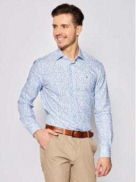 Tommy Hilfiger Tailored Tommy Hilfiger Tailored Košile Floral Print Classic TT0TT06827 Modrá Regular Fit
