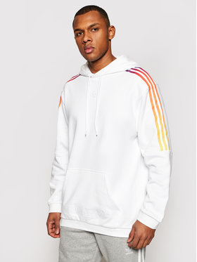 adidas adidas Felpa Sprt Sweat Hood GN2425 Bianco Regular Fit