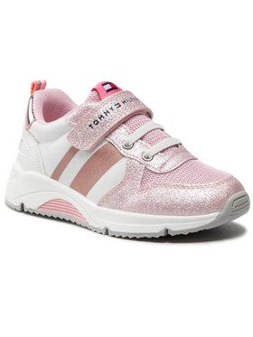 Tommy Hilfiger Tommy Hilfiger Sneakersy Low Cut Lace-Up T1A4-31029-1188 S Różowy