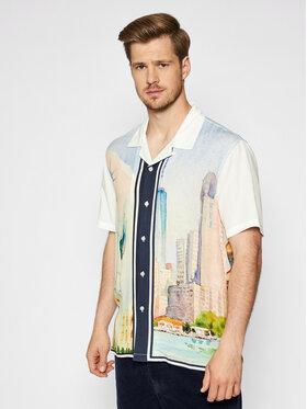 HUF HUF Koszula Prestige BU00095 Biały Regular FIt
