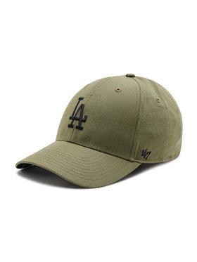 47 Brand 47 Brand Шапка с козирка Los Angeles Dodgers B-GRDLM12RCP-XC Зелен