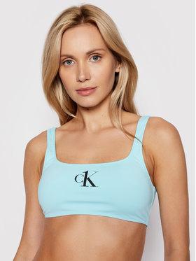 Calvin Klein Swimwear Calvin Klein Swimwear Bikini pezzo sopra KW0KW01404 Blu