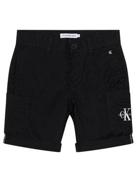 Calvin Klein Jeans Calvin Klein Jeans Szorty materiałowe Technical Pocket IB0IB00792 Czarny Regular Fit