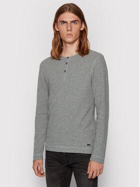Boss Boss Marškinėliai ilgomis rankovėmis Trix 50401843 Pilka Slim Fit