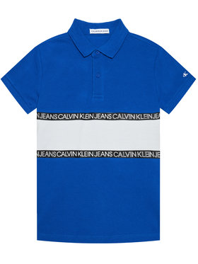 Calvin Klein Jeans Calvin Klein Jeans Polo Logo Colour Block IB0IB00734 Bleu Regular Fit