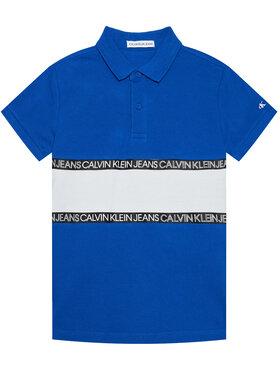 Calvin Klein Jeans Calvin Klein Jeans Polo Logo Colour Block IB0IB00734 Niebieski Regular Fit