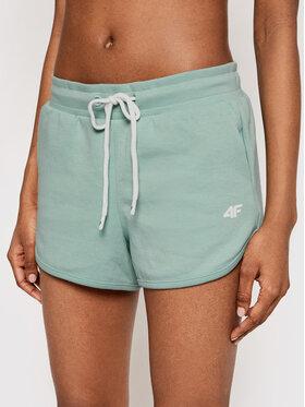 4F 4F Pantaloni scurți sport H4L21-SKDD015 Verde Regular Fit