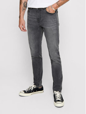 Only & Sons ONLY & SONS Blugi Warp 22012051 Gri Skinny Fit