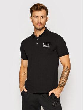 EA7 Emporio Armani EA7 Emporio Armani Тениска с яка и копчета 6KPF01 PJ04Z 1200 Черен Regular Fit