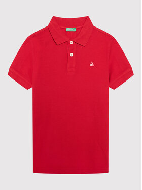 United Colors Of Benetton United Colors Of Benetton Polo 3089C3091 Czerwony Regular Fit