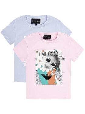 Emporio Armani Emporio Armani Komplet 2 t-shirtów 3H3D02 3J2IZ 0322 Kolorowy Regular Fit
