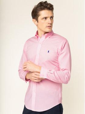 Polo Ralph Lauren Polo Ralph Lauren Koszula 710737080 Różowy Slim Fit