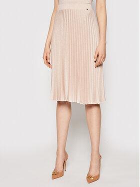 Nissa Nissa Spódnica plisowana F12078 Różowy Regular Fit