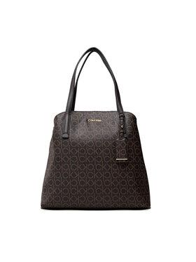 Calvin Klein Calvin Klein Дамска чанта Must Shoulder Bag Md Mono K60K608571 Кафяв