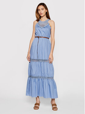 Rinascimento Rinascimento Sukienka letnia CFC0103508003 Granatowy Regular Fit