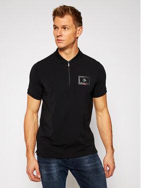 KARL LAGERFELD KARL LAGERFELD Тениска с яка и копчета 745021 502221 Черен Regular Fit