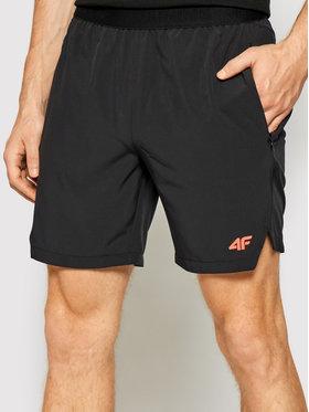 4F 4F Pantaloni scurți sport H4L21-SKMF014 Negru Regular Fit