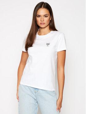 KARL LAGERFELD KARL LAGERFELD T-shirt Ikonik Mini 206W1712 Blanc Regular Fit
