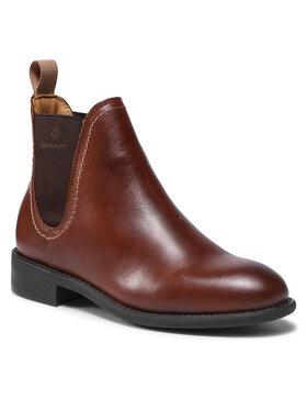 Gant Gant Kotníková obuv s elastickým prvkem Alnsley 23551106 Hnědá