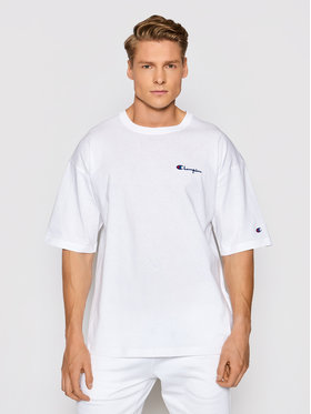 Champion Champion T-shirt Small Script Logo 214282 Bijela Custom Fit