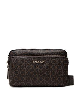 Calvin Klein Calvin Klein Handtasche Ck Must Camera Bag W/Pkt Lg Mono K60K608537 Braun