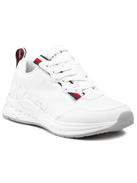 Tommy Hilfiger Tommy Hilfiger Sneakersy Low Cut Lace-Up Sneaker T3B4-31100-1171100 M Biały
